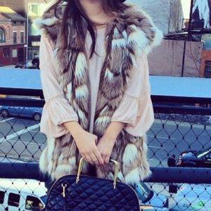 Faux Fur Oversized Vest